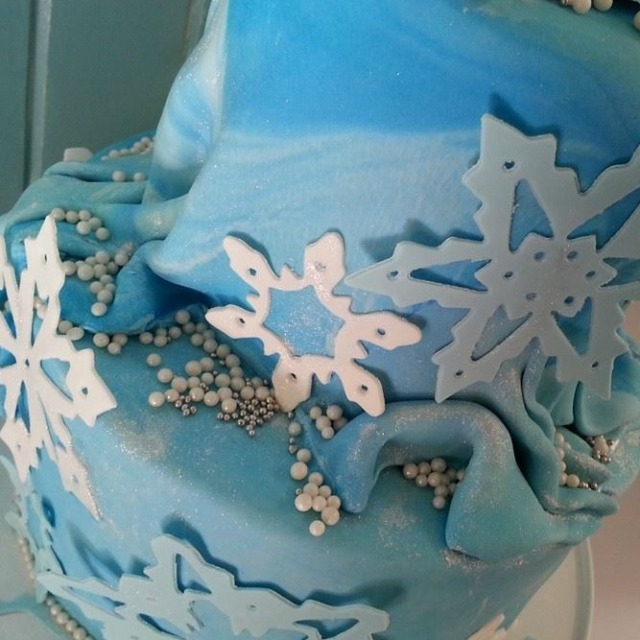 Frozen cake detail