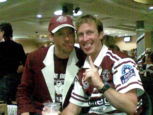 My hubby with Ash who was Manly's Biggest Fan