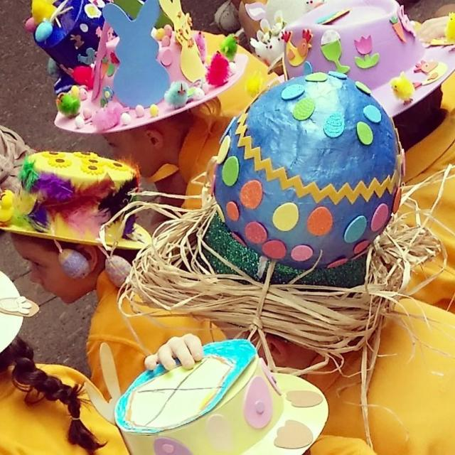 We kicked of Easter celebrations with Miss 5's first school Easter Hat Parade. So much cuteness!