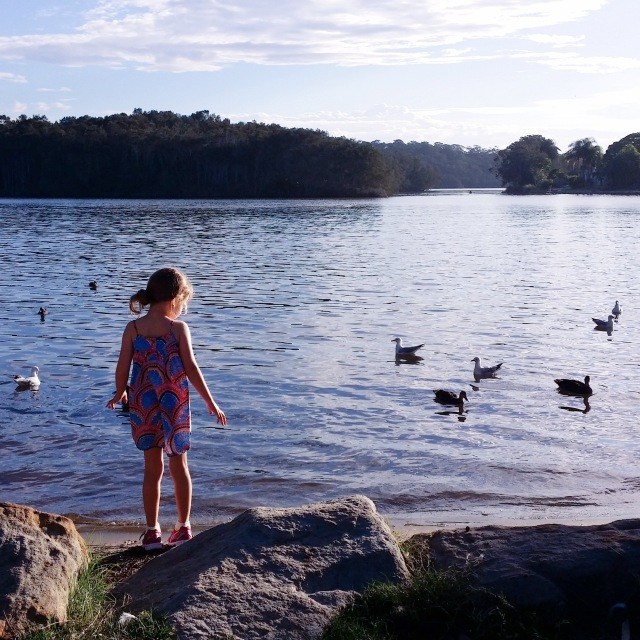 We had the best Easter Sunday with our fave friends we call family. Team Brekkie, Easter Egg hunt for the kiddies, an 8.5km family bike ride and fish & chips  for dinner by the lake with this view.